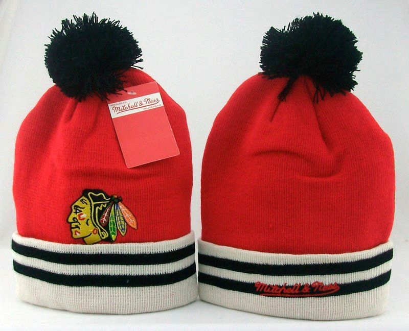 NHL Chicago Blackhawks Red Beanie JT